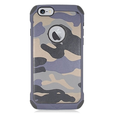 Insten Camouflage Hard Hybrid Dual Layer Case For Apple iPhone 6/6s - Gray/Black
