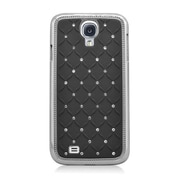 Insten Hard Chrome Case with Diamond For Samsung Galaxy S4 - Black