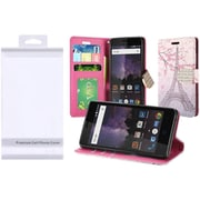 Insten Eiffel Tower Flip Leather Fabric Cover Case w/stand/card slot/Photo Display/Diamond For ZTE Tempo - Pink