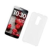 Insten Hard Rubber Cover Case For LG G2 D800 ATT - White
