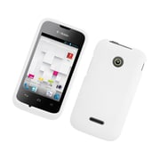 Insten Hard Rubberized Cover Case For Huawei Prism II U8686 - White