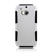 Insten Astronoot Hard Hybrid Silicone Case For HTC One M8 - White/Black