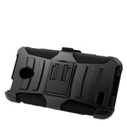 Insten Stand Dual Layer Hybrid Case with Holster For Alcatel One Touch Conquest - Black