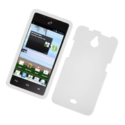 Insten Hard Rubber Coated Case For Huawei Ascend Plus H881C - White
