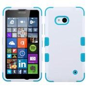 Insten Tuff Hard Hybrid Rubberized Silicone Case For Microsoft Lumia 640(Metro PCS)/640(T-mobile) - White/Blue