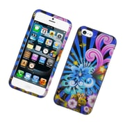 Insten Fireworks Hard Cover Case For Apple iPhone 5S 5 - Blue/Colorful