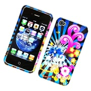 Insten Fireworks Hard Case For Apple iPhone 4 4S - Blue/Colorful