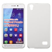 Insten Hard Rubber Cover Case For Huawei Pronto - White