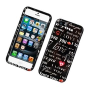 Insten Love You Hard Cover Case For Apple iPhone 5S 5 - Black/White