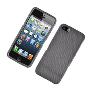 Insten Carbon Fiber Hard Case For Apple iPhone 5S 5 - Dark Gray