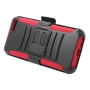 Insten Hard Hybrid Plastic Silicone Stand Case with Holster For Amazon Fire Phone - Black/Red