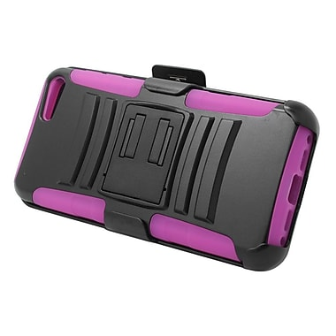 Insten Stand Dual Layer Hybrid Case with Holster For Amazon Fire Phone - Black/Hot Pink