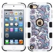 Insten Tuff European Flowers Hard Hybrid Silicone Case For Apple iPod Touch 5th Gen/6th Gen - Purple/White