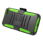 Insten Stand Dual Layer Hybrid Case with Holster For Amazon Fire Phone - Black/Green