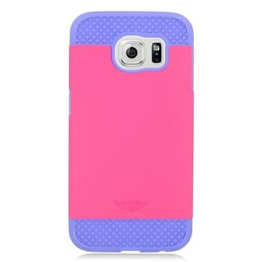 Insten Hard Dual Layer Hybrid Case For Samsung Galaxy S6 - Hot Pink/Purple