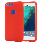 Insten Rugged Gel Rubber Case For Google Pixel - Red