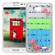 Insten Checker Hard Bling Case For LG Optimus L70 / Optimus Exceed 2 VS450PP/Realm - White/Blue