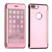 Insten Electroplating Highgloss Executive Leather Flip Protective Case Cover For Apple iPhone 7 Plus - Rose Gold