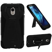 Insten Hard Dual Layer Plastic Silicone Cover Case w/stand For Motorola Droid Turbo - Black