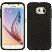 Insten 3 Pieces Hybrid Dual Layer Hard PC/TPU Back Case For Samsung Galaxy S6 - Black