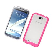 Insten Gel Bumper Case For Samsung Galaxy Note 2 II - White/Hot Pink