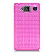 Insten Checker Gel Clear Case For Motorola Droid Razr Maxx HD - Hot Pink
