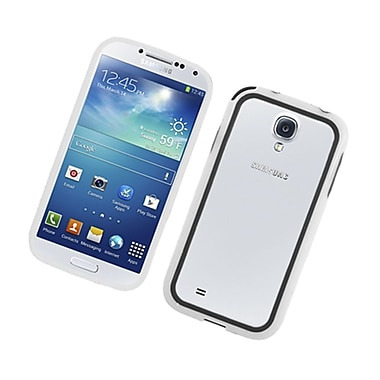 Insten Gel Bumper Case For Samsung Galaxy S4 - Black/White