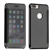 Insten Electroplating Highgloss Executive Leather Flip Protective Case Cover For Apple iPhone 7 Plus - Black