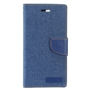 Insten Folio Leather Fabric Stand Card Case w/Photo Display For Apple iPhone 7 4.7 inch - Blue