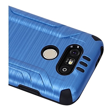 Insten Hard Dual Layer Silicone Cover Case For LG G5 - Blue/Black
