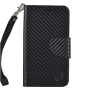 Insten Book-Style Leather Case with Photo Display & Lanyard For Kyocera Hydro View - Black