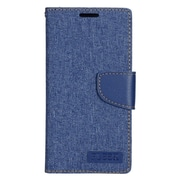Insten Leather Wallet Case with Photo Display & Card Slot For Samsung Galaxy S7 Edge - Dark Blue