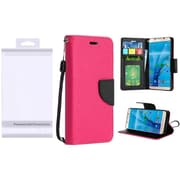 Insten PU Leather Flip Wallet Credit Card Stand Cover Case For Samsung Galaxy S7 - Hot Pink