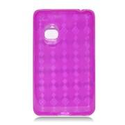 Insten Checker Gel Transparent Cover Case For LG 840G - Hot Pink