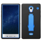 Insten Hard Dual Layer Silicone Case w/stand For Sharp Aquos Crystal - Black/Blue