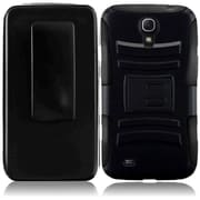 Insten Protective Side Stand Case Cover With Holster For Samsung Galaxy Mega 6.3 Black/Black