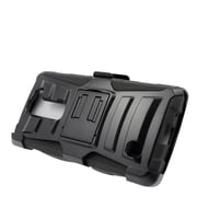 Insten Hard Hybrid Plastic Silicone Stand Case with Holster For LG Volt 2 - Black