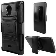 Insten Advanced Armor Hard Hybrid Shockproof Case with Stand For Sharp Aquos Crystal - Black