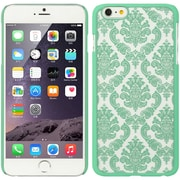 Insten Hard Rubber Coated Case for Apple iPhone 6s Plus / 6 Plus - Green/White