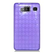 Insten Checker Gel Transparent Case For Motorola Droid Razr Maxx HD - Purple
