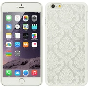 Insten Hard Rubber Cover Case for Apple iPhone 6s Plus / 6 Plus - White