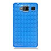 Insten Checker Rubber Clear Case For Motorola Droid Razr Maxx HD - Blue
