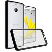 Insten Ultra Slim Hard Crystal Clear Transparent Fused TPU Hybrid Case For HTC 10 EVO / Bolt - Black