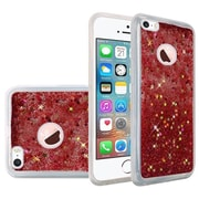 Insten Liquid Quicksand Glitter Fused Flexible Hybrid TPU Cover Case For Apple iPhone SE / 5 / 5S - Rose Pink