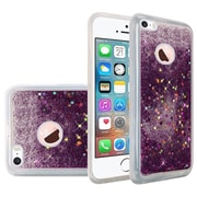 Insten Liquid Quicksand Glitter Fused Flexible Hybrid TPU Cover Case For Apple iPhone SE / 5 / 5S - Dark Purple