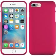 Insten Hard Rubber Coated Cover Case For Apple iPhone 7 - Hot Pink