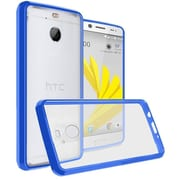 Insten Ultra Slim Hard Crystal Clear Transparent Fused TPU Hybrid Case For HTC 10 EVO / Bolt - Dark Blue