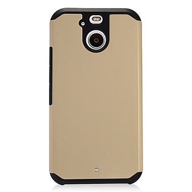 Insten Dual Layer Hybrid Rubberized Hard Silicone Shockproof Case Cover For HTC Bolt - Gold/Black