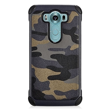 Insten Camouflage Hard Dual Layer Silicone Case For LG V10 - Gray/Black