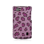 Insten For Lg Optimus M+ / Ms695 Full Diamond Case Purple Leopard